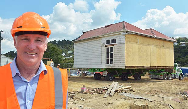 COMING ATTRACTION: Grant Arbuckle says converting the 1898 homestead into a cafe will help the new resthome connect with locals.