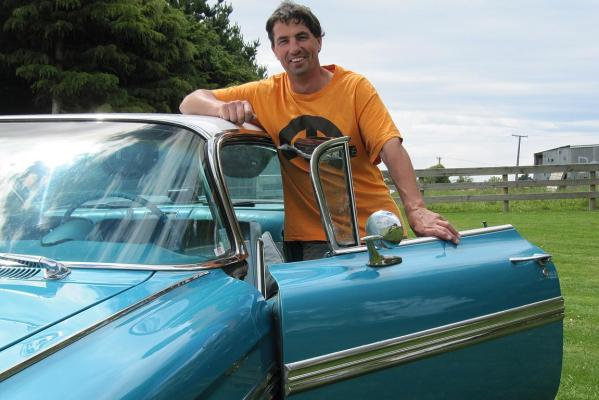 Ian Carter and his 1959 Chevrolet Impala.
