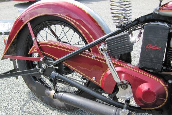 Larry Moolenaar spent more than a decade restoring his 1941 741B Indian motorcycle.