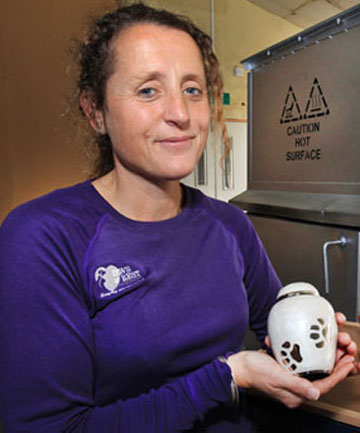 KEPT CLOSE: Paws4Rest owner Patrice Spencer-Humm says the demand for pet cremation is growing.