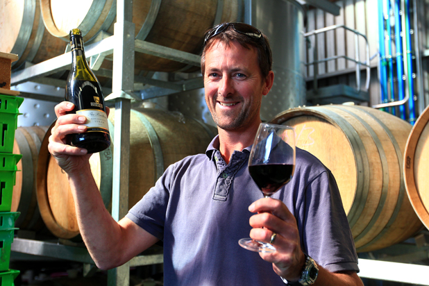 Syrah hurrah: Giesen Wines chief winemaker Andrew Blake was excited to hear their first syrah had won the Champion Syrah trophy at the 2014 Easter Wine Show on Saturday
