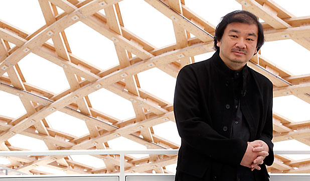 SHIGERU BAN: The Japanese architect pictured at the Centre Pompidou-Metz museum in Metz.