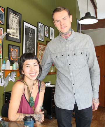 Holyskin Tattoo owners Alex and Goldy Stephenson.