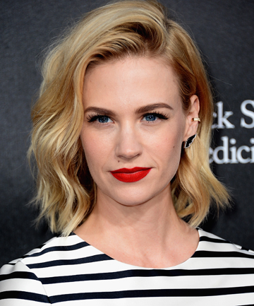 SHE'S A FAN: Mad Men actress January Jones hit the headlines when she said that placenta pills helped her avoid depression and tiredness following the birth of her son.