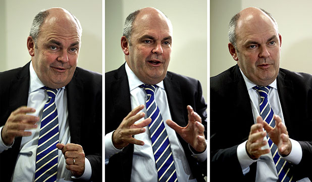 LESS IS MORE: National MP Steven Joyce visits Manawatu Standard.