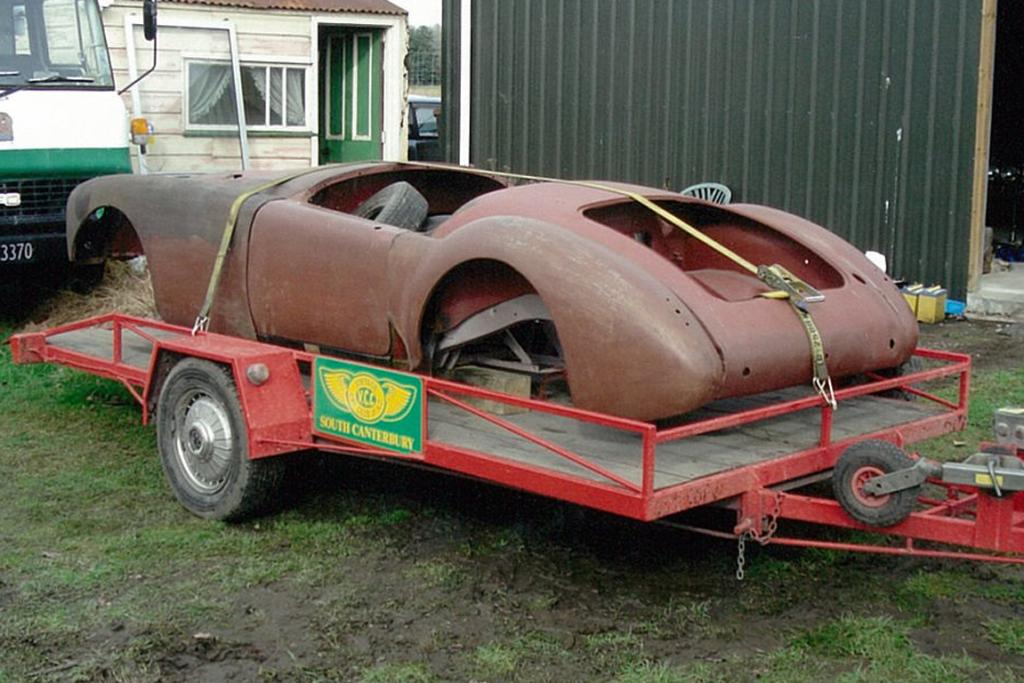 The 1956 MGA Neil Manchester picked it up from the Winchester Swap Meet before he restored it.