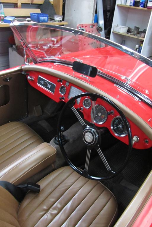 The upholstery of Neil Manchester's restored 1956 MGA.