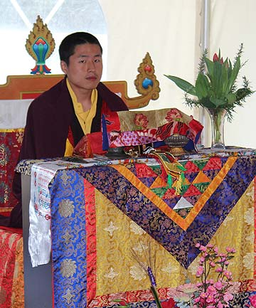 SPECIAL VISIT: Kiwi lama Pong Re Tulku Rinpoche,  leads prayers marking construction of the new Tibetan temple in Alfriston.
