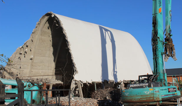 TORN DOWN: Morrinsville's St Joseph's Catholic Church has been demolished, reportedly due to earthquake risk.