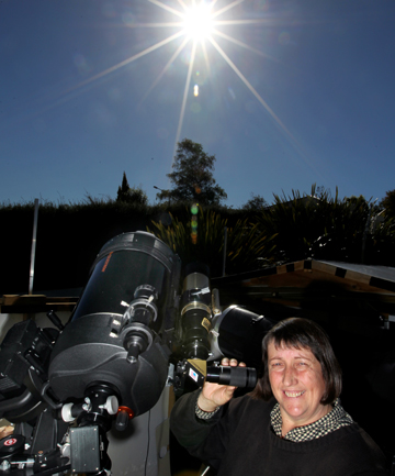 timaru telescope sun heather mctague