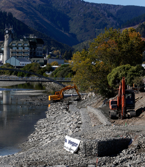NEW PARK: Work on a new park on the lower Maitai River bank is on schedule to be completed in July.