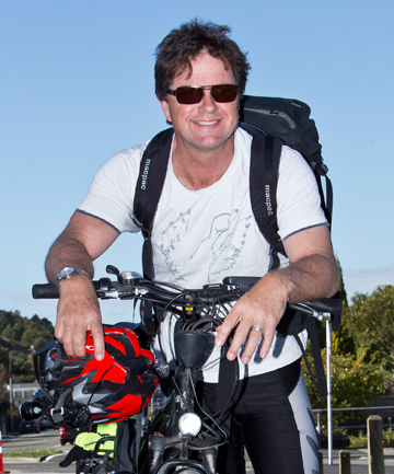 FIT AND INVIGORATED:  Roger Waddell enjoys cycling to work.