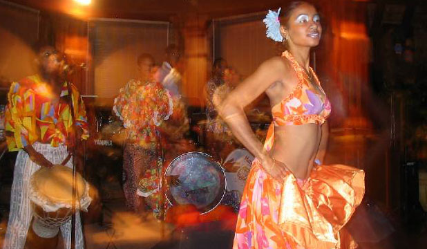FEEL THE BEAT: A woman dances the sega in Pointe-aux-Piments, Mauritius.