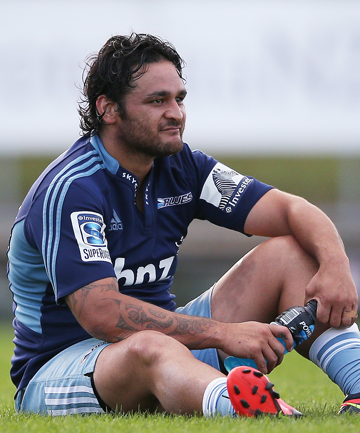 TIME OUT: Piri Weepu of the Blues looks on from the sideline during a match against the Chiefs in February.