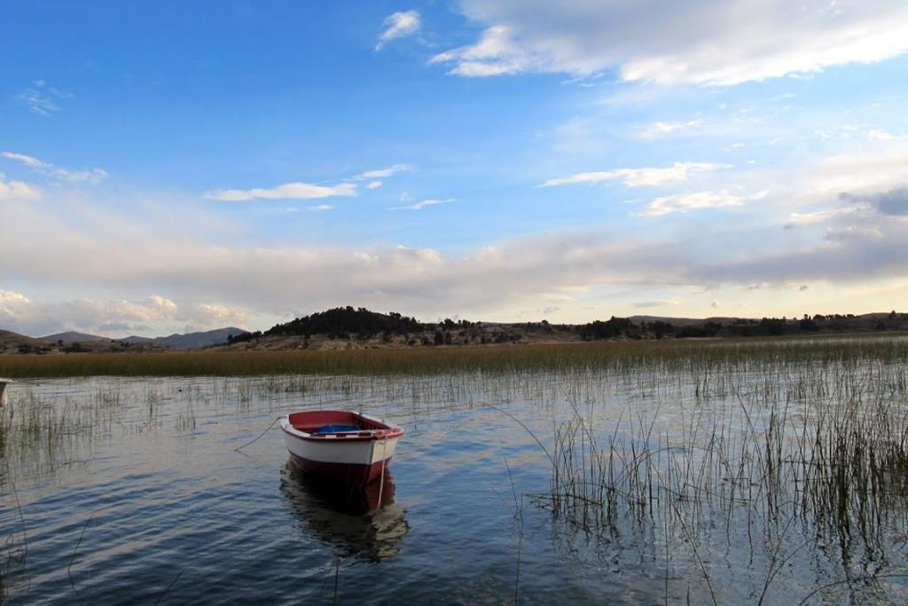 Dusk at Lake Titicaca, the highest navigable lake in the world at 3800m above sea level.