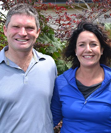 GREEN FOR GO: Large-scale dairy farmers Mark and Devon Slee have won the Supreme Award in the 2014 Canterbury Ballance Farm Environment Awards.