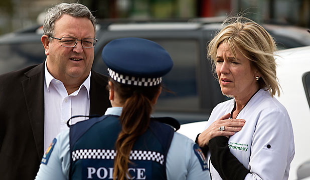 Gerry Brownlee and Karen Crisp