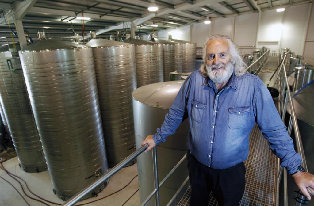 Peter Yealands in the winery