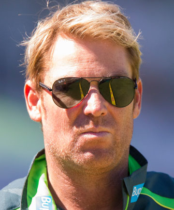 KNOWS HIS FOOD: Shane Warne.
