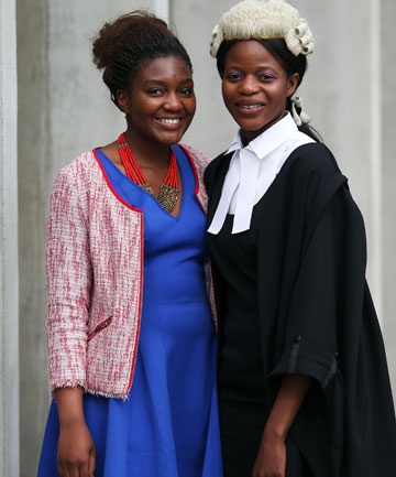 BIG DAY: Nothando Gwaze-Musesengwa was admitted to the roll of barristers and solicitors at a ceremony in the High Court in Christchurch, while her adopted sister, Charmaine Makaza, is in her first year of law studies.