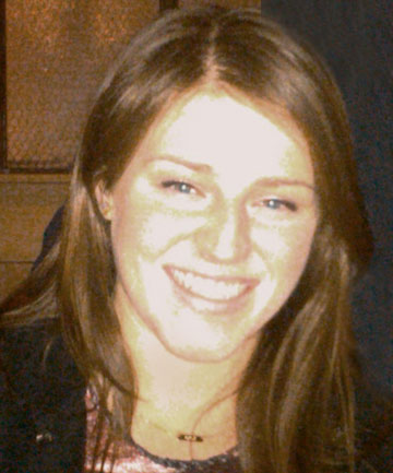 MEG BEFORE: Meg Theriault, 21, suffered a serious head injury, broken right arm and grazing to her body