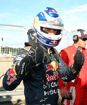 TWO FROM TWO: Jamie Whincup swept both races on Saturday at the Tasmania round of the V8 Supercars at Symmons Plains.