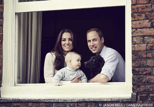 ROYAL FAMILY: The Duke and Duchess of Cambridge and Prince George.