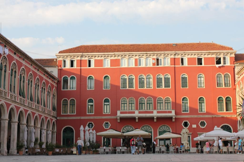Trg Republic, a tranquil square outside the palace walls, was designed by a homesick Venetian architect.