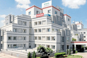 MODERN BUILDING: The 200-bed Fortis Flt Lt Rajan Dhall Hospital, in Vasant Kunj, New Delhi, where Michelle Allwright will have her procedure.