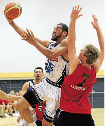 GIANT HANDFUL:  Centre Jamal Boykin was a force for the Fico Finance Nelson Giants on Saturday, putting up 36 points and 11 rebounds against the Canterbury Rams.