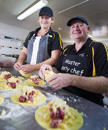 RECIPE FOR SUCCESS: Cambridge's Cornish Pasties owners, Neil and Melanie MacArthur, have a new deal to supply New World and Pak 'n Save in the South Island.