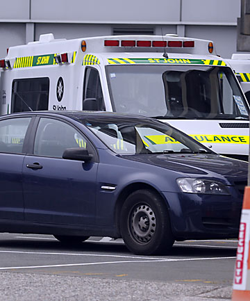 Police car at Christchurch Hospital
