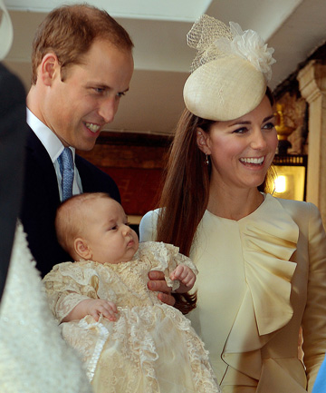 HAPPY FAMILY: Prince George was christened in October 2013.