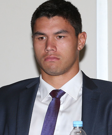 HEARING: Jordan McLean did not watch the repeated replaying of the tackle.