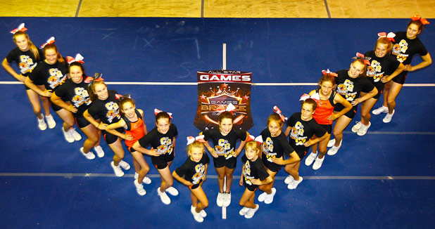 Waikato cheerleading team