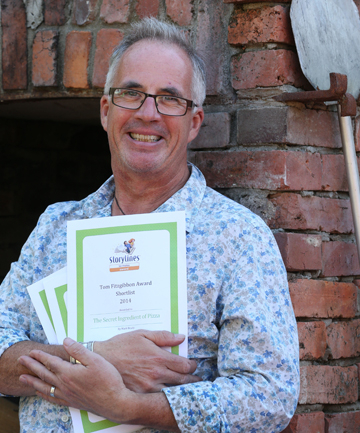 GOOD START: Nelson author Mark Brady with his three writing awards.
