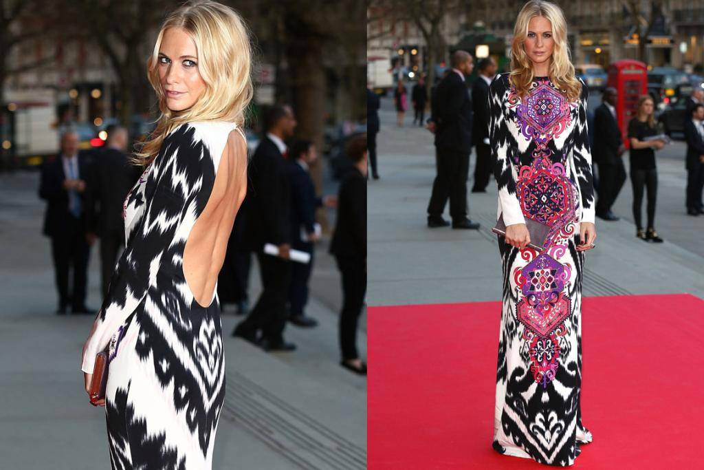 THE BEST: If it was wallpaper I'd tear it down with my own hands until my nails bled, but in gown form I absolutely adore this Emilio Pucci print on Poppy Delevingne. She's styled it so perfectly (this dress would wear many people). And while it's all print and covered-up at the front, the keyhole back lets the whole thing breathe. It's my best this week as Poppy's made me love a dress I could easily hate.