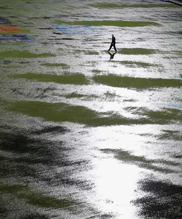 World T20 semifinal hailstorm