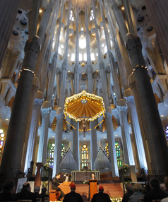 PORT EXCURSION: The inside of the Sagrada Familia.
