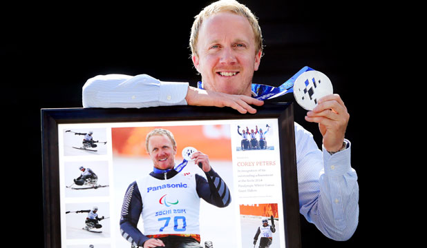 Paralympian silver medallist Corey Peters