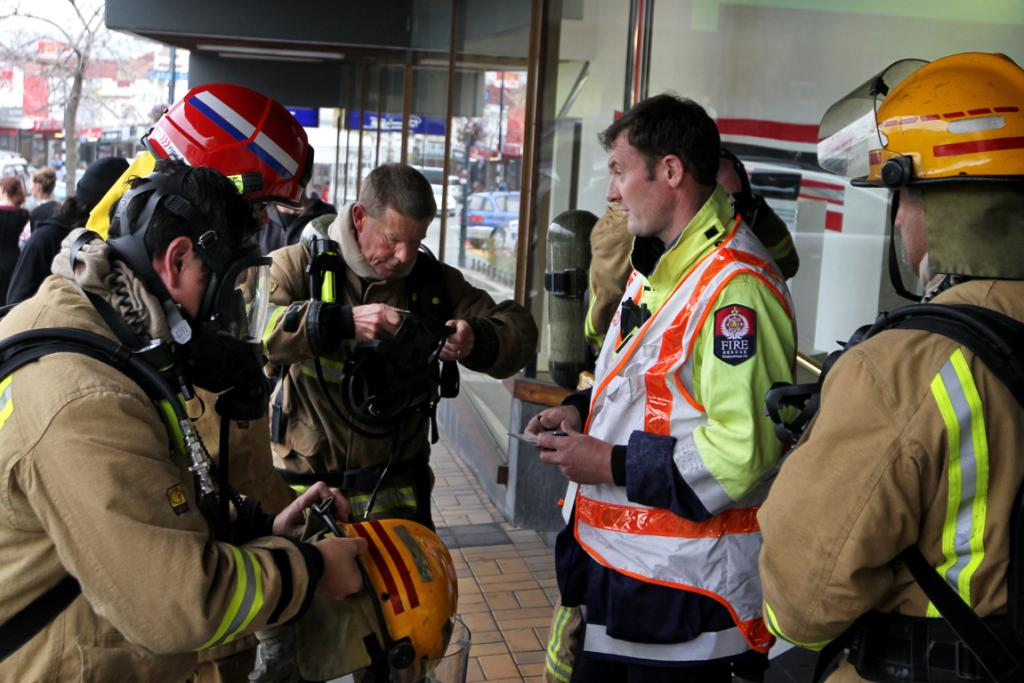 Staff and shoppers are evacuated from Ballantynes in Timaru after a small fire in a light fitting is discovered.