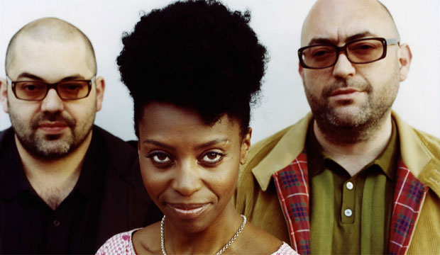 BIG CALM: Morcheeba, from left, Ross Godfrey, Skye Edwards and Paul Godfrey. ''We have a lot of fun on stage now. It's a really good place,'' says Edwards.