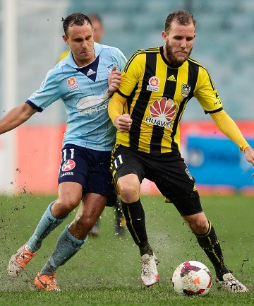 Jeremy Brockie of the Phoenix and Richard Garcia