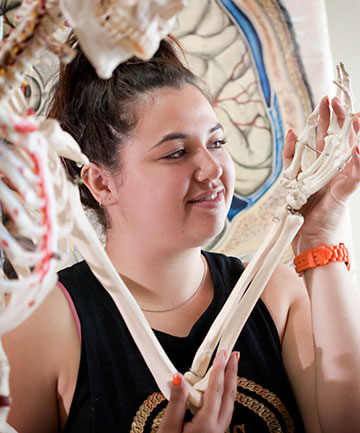 BONES OF THE ISSUE: UCOL student Awarangi Grey-Nichols has received a scholarship to study.