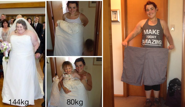 How she lost 65 kilos in two years