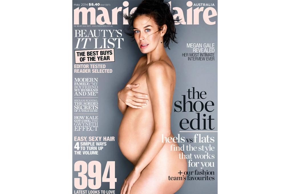 Pregnant naked mag covers