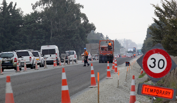HOLDING PATTERN: Motorists can expect nearly another month of traffic delays north of Timaru.