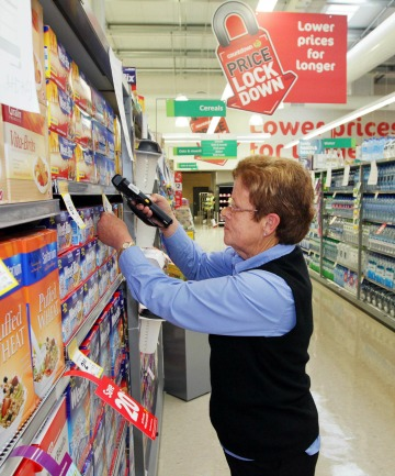 CHECKING SHELVES: Pam Annand was working at Countdown Ferrymead as a duty manager on the day of the February 22 quake.