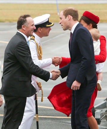 PM John Key and royal family