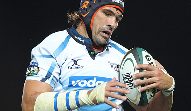 LOCK IT IN: Veteran Victor Matfield has been called up from the coaches box to the Bulls playing squad to face the Highlanders.